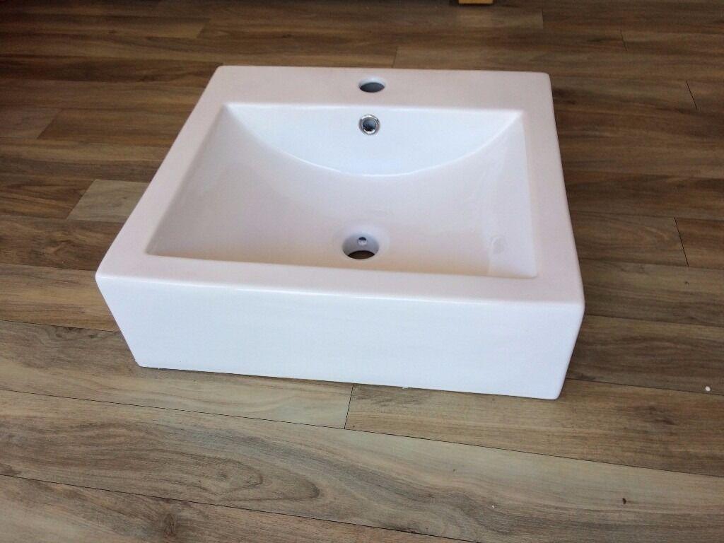 Bathroom Sinks Gumtree semi recessed basin. white china bathroom sink. | in southside