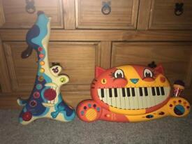 Smyth's guitar and piano