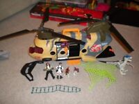 HELICOPTER AND DINOSAURS TOY