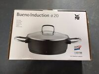 WMF Bueno Induction Low Casserole With Glass Lid - 20cm