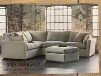Extra-large grey corner Sofa