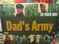 Dad's army 20 VHS videos shrinkwraped never used Box Set Limited Edition unwanted present