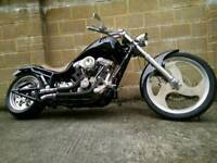 "2003 Harley, Custom,113"" S&S engine."