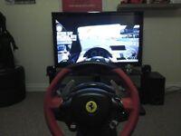 Xbox One Thrustmaster Ferrari 458 wheel and pedal set...REDUCED PRICE!!