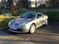 MGtf metallic grey convertible.very good condition