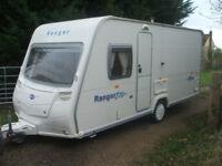 touring caravan BAILEY FIXED BED ,LIGHTWEIGHT 970KLS ,16ft 4berth ,2006 .FIRST WILL BUY
