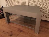 TV stand, large, glass shelving, collection from Fulham SW6