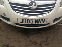 Private Registration Plates JHO3 NNN for Sale