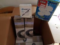 FREE - Box of flush ceiling lights some brand new - black chrome & others