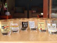Selection of shot glasses.