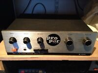 Trio 2002 KA Solid State Amplifier ( spares / repair) 1 channel working only!