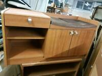 Unit - 2 Door, One Drawer and 2 Inner Wooden Shelves Telephone / Shoe Rack Unit