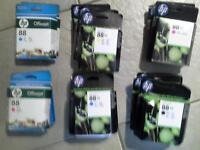 Selection of HP Office Jet ink cartridges