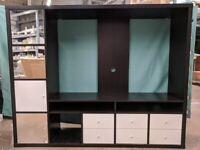 LAPPLAND TV storage unit, black-brown/white, IKEA Exeter As-Is, Was £234 #BargainCorner