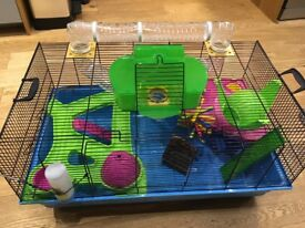 Hamster Cage (80 x 50 x 50cm) with extras