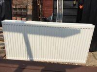 Radiator. Free. White double wall radiator. 120 X 60 cms. A few very minor marks. No brackets.
