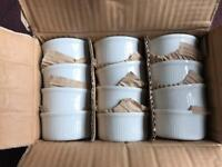 "Utopia Tableware Titan White 3"" Ramekins (Box of 12) NEW"