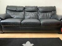 2x DFS sofas 3 seats and 2 seats thick leather excellent condition