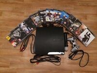 Selling PlayStation 3 with 12 games, a controllers, a HDMI cable and a PlayStation move controller