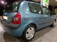 2004 renault clio 1.5 dci diesel moted and taxed only £30 a year tax with FREE DELIVERY OR DRIVEAWAY