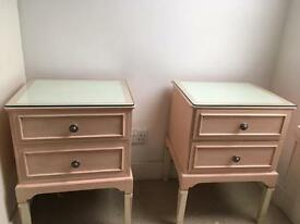 Vintage handmade dresser and 2 bedside tables