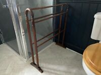 Antique Victorian Mahogany towel rail, professionally restored and french polished