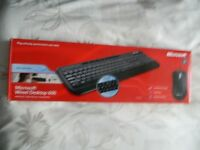 microsoft wired keyboard and mouse (never used) £10