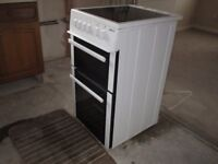Beko Double Oven with grill and 4 ring ceramic hob.