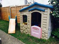Kids Plastic Garden Playhouse and Slide