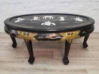 Oriental Coffee Table (DELIVERY AVAILABLE FOR THIS ITEM OF FURNITURE)