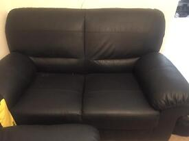 3 and 2 Seater very Clean Black sofa