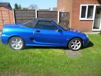 mg tf 1.6 special edition cool blue