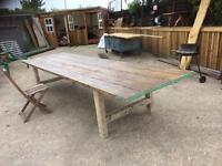 Huge Scaffold board 13ft dining Table