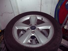 """Ford Focus Mondeo 16"""" Alloy wheels with tyres"""