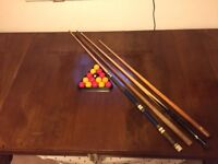 Riley Slate Bed Mahogany Snooker/Dining Table