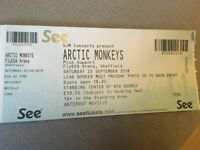 Artic Monkeys standing ticket 22nd Sept Sheffield