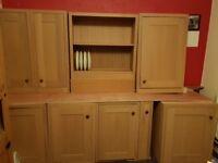 Solid oak kitchen doors and units