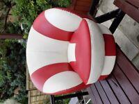 Kids bucket sofa chair