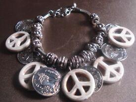 Women's Peace Charm Bracelet