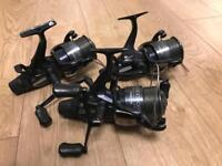 X3 Shimano DL 10000 RA carp fishing reels - barely used