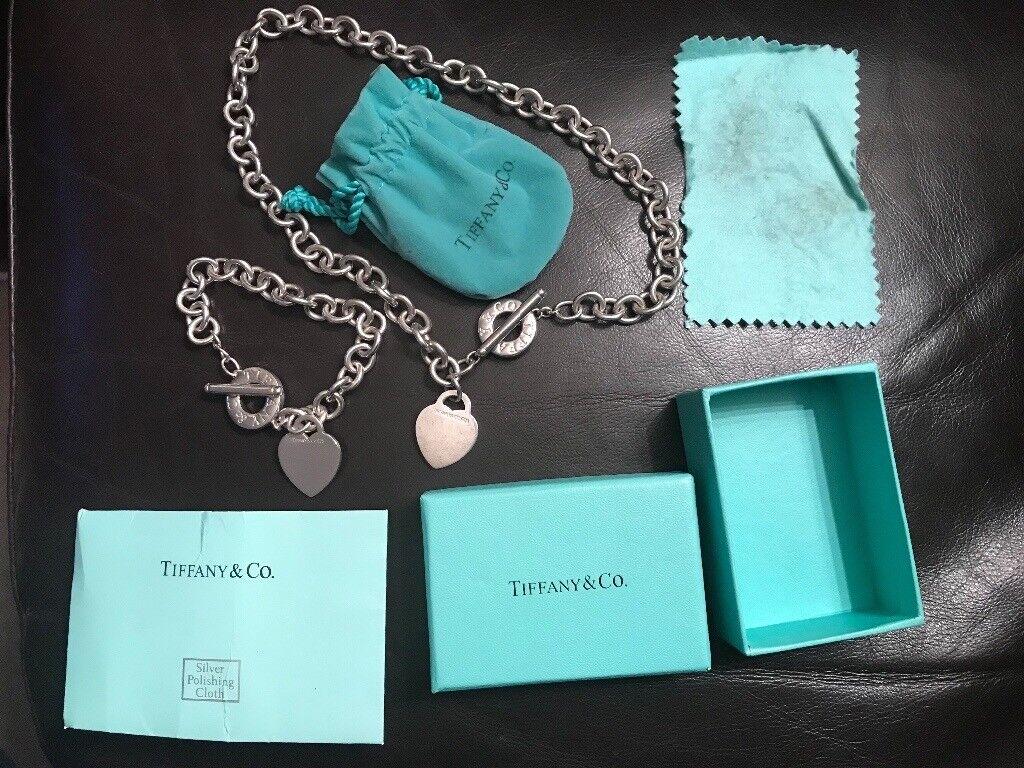 Tiffany & Co bracelet and choker set 925 silver