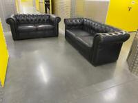3 + 2 seater leather chesterfield sofa, Free delivery