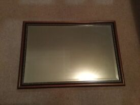 Medium size mahogany mirror