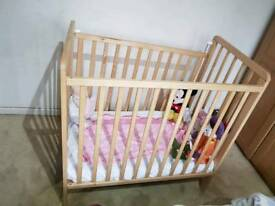 Mini cot for sale with mattress