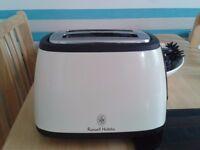 cream russell hobbs 2 slice toaster ex con