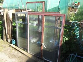 6 STEEL WINDOW FRAMES WITH GLASS FOR SHED OR GARAGE
