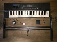Casio HT 3000 Digital Synthesizer Keyboard - 61 Full Size Keys - RARE + Stand