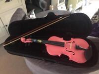 1/4 pink zest violin with case.