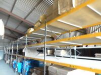 Warehouse racking, shelving, lighting, chipboard, everything, staircases