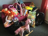 Clothing..toys ..games..book shelfs. Shoes .job lot for sale